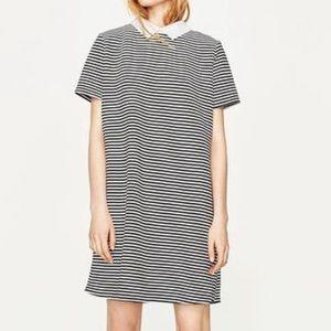 Zara A-Line Striped Dress